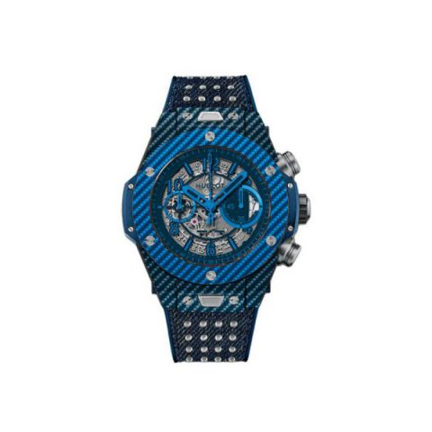 HUBLOT BIG BANG UNICO CARBON FIBER & DARK BLUE TEXALIUM 45MM MEN'S WATCH