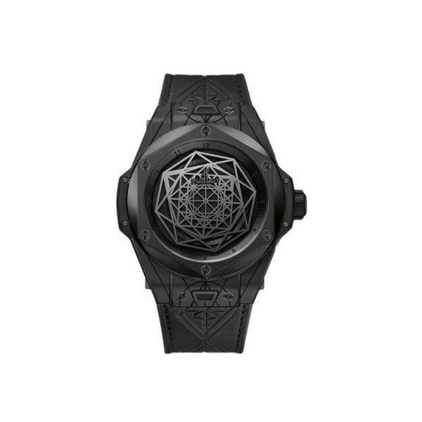 HUBLOT BIG BANG SANG BLEU LIMITED EDITION OF 200 PCS BLACK CERAMIC 45MM MEN'S WATCH