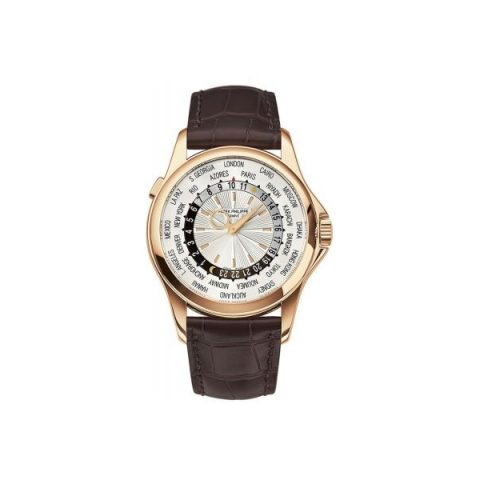 PATEK PHILIPPE COMPLICATIONS 5130R-018 WORLD TIME ROSE GOLD WATCH