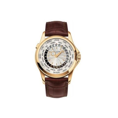 PATEK PHILIPPE COMPLICATIONS 5130J-001 WORLD TIME YELLOW GOLD MEN'S WATCH