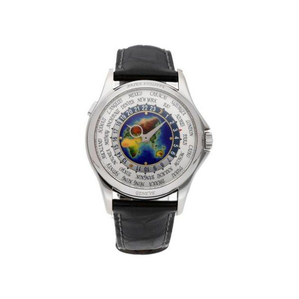 PATEK PHILIPPE WORLD TIME COMPLICATIONS 5131G-010 WHITE GOLD ENAMEL DIAL