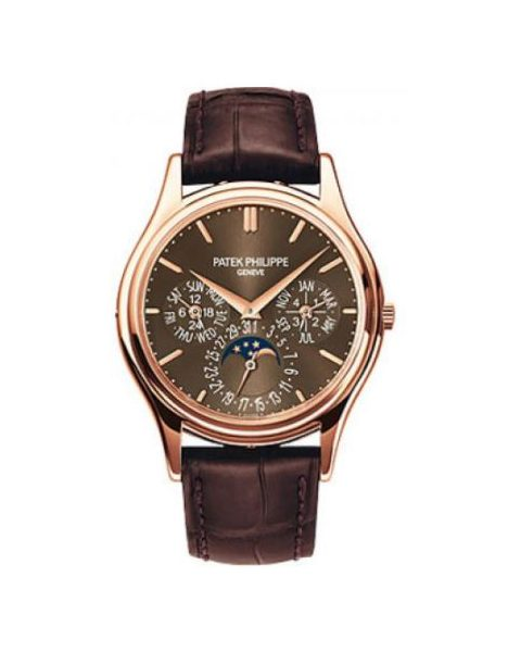 PATEK PHILIPPE GRAND COMPLICATIONS 5140R-001 PERPETUAL CALENDAR MOONPHASE ROSE GOLD WATCH
