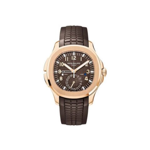 PATEK PHILIPPE AQUANAUT 5164R-001 TRAVEL TIME ROSE GOLD WATCH