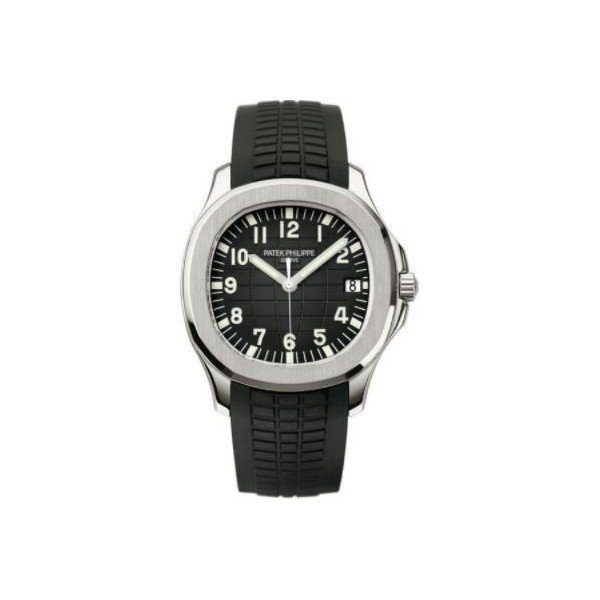 PATEK PHILIPPE AQUANAUT STAINLESS STEEL 40MM BLACK EMBOSSED DIAL MEN'S WATCH