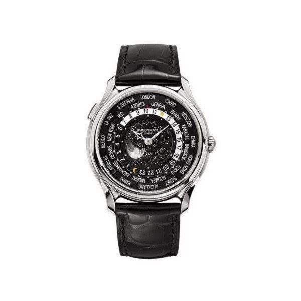 PATEK PHILIPPE WORLD TIME 5575G-001 WHITE GOLD BLACK DIAL MEN'S WATCH