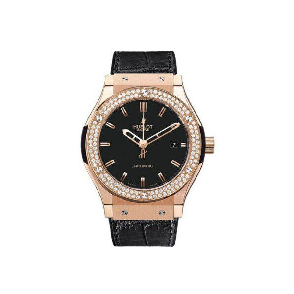 HUBLOT CLASSIC FUSION 18KT RED GOLD WITH DIAMONDS 38MM MEN'S WATCH