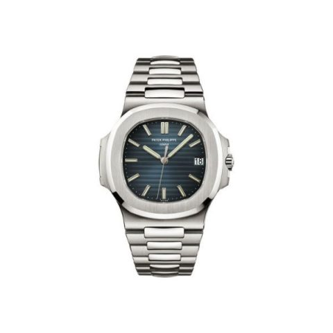 PATEK PHILIPPE NAUTILUS STAINLESS STEEL 43MM X 38MM BLACK-BLUE DIAL MEN'S WATCH