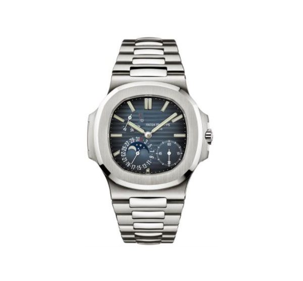 Patek Philippe Pre-owned Nautilus Moon Phase Stainless Steel Men's Watch