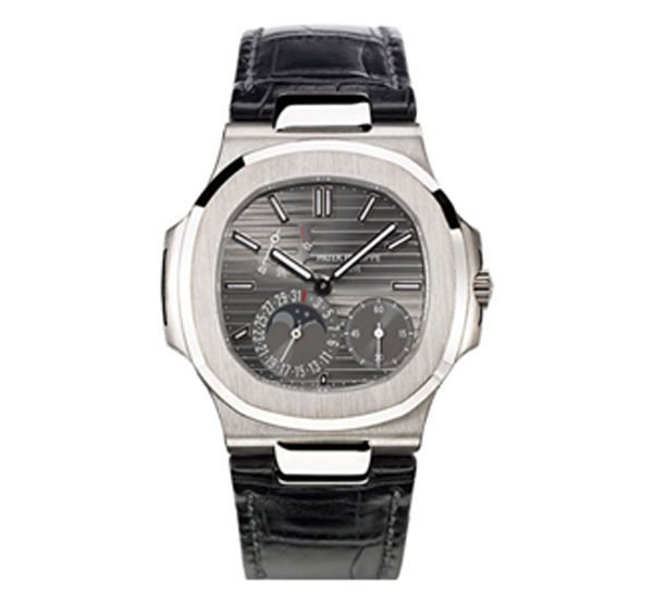 Patek Philippe Pre-Owned Nautilus 5712G-001 Moon Phase White Gold Watch