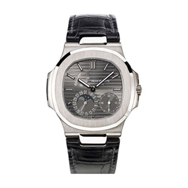 PATEK PHILIPPE NAUTILUS 18KT WHITE GOLD 40MM SLATE DIAL MEN'S WATCH