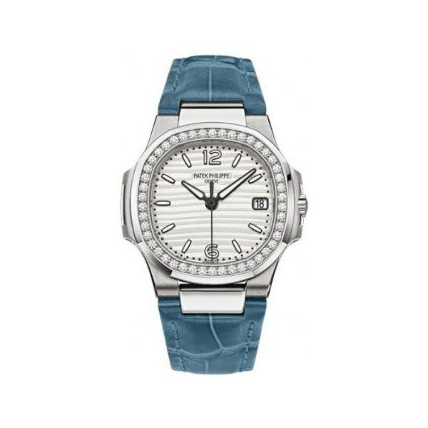 PATEK PHILIPPE NAUTILUS 18KT WHITE GOLD 32MM WHITE DIAL LADIES WATCH