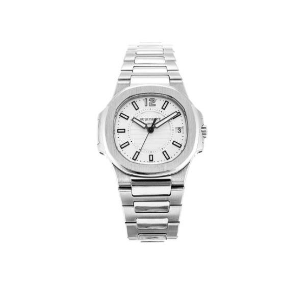 PATEK PHILIPPE NAUTILUS 7011/1G-001 WHITE GOLD SILVERY WHITE DIAL LADIES WATCH