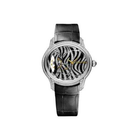 AUDEMARS PIGUET MILLENARY 18KT WHITE GOLD 39.5MM ZEBRA PATTERN DIAL LADIES WATCH