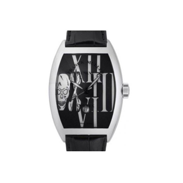 FRANCK MULLER CASABLANCA 39.6MM X 11.9MM 18KT WHITE GOLD MEN'S WATCH
