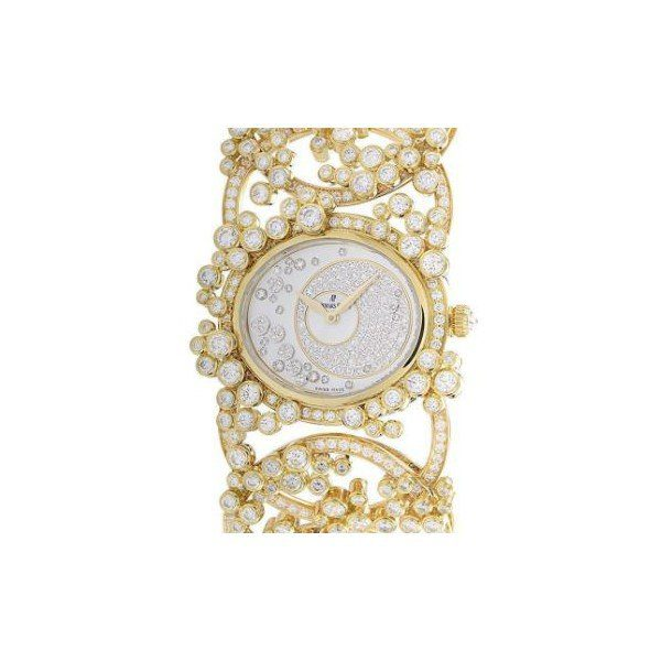 AUDEMARS PIGUET MILLENARY 18KT YELLOW GOLD MOP DIAL LADIES WATCH