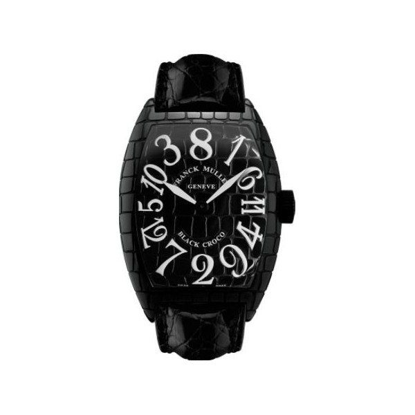 FRANCK MULLER BLACK CROCO STEEL BLACK 39.5MM MEN'S WATCH