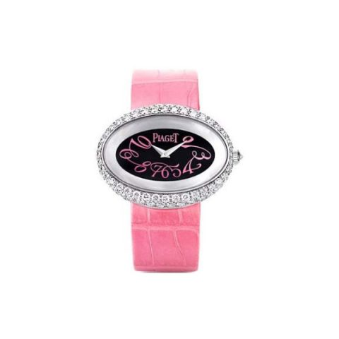 PIAGET LIMELIGHT 18KT WHITE GOLD PINK STRAP LADIES WATCH