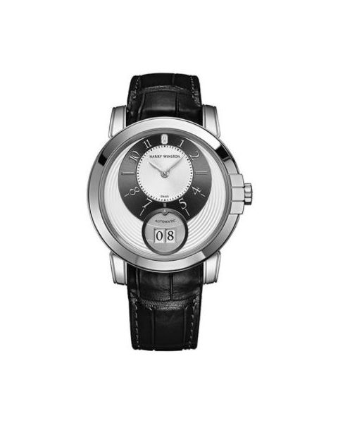 Harry Winston Pre-owned Midnight 18kt White Gold 42mm Men's Watch