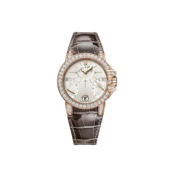 HARRY WINSTON OCEAN 18KT ROSE GOLD 36MM LADIES WATCH