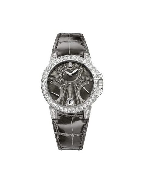 Harry Winston  Pre-owned Ocean 18kt White Gold 36mm Ladies Watch