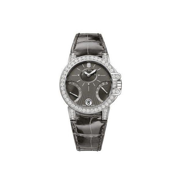 HARRY WINSTON OCEAN 18KT WHITE GOLD 36MM LADIES WATCH