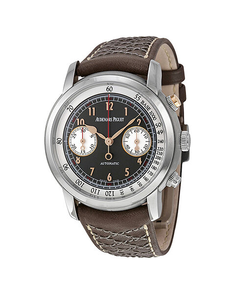 Audemars Piguet Pre-owned Gstaad Classic Limited Edition Of 250 Pcs Titanium 41mm Brown-white Dial Men's Watch