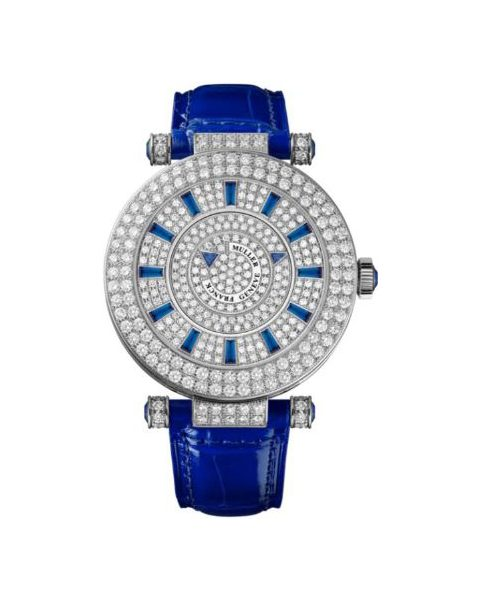 FRANCK MULLER DOUBLE MYSTERY 18KT WHITE GOLD 42MM LADIES WATCH