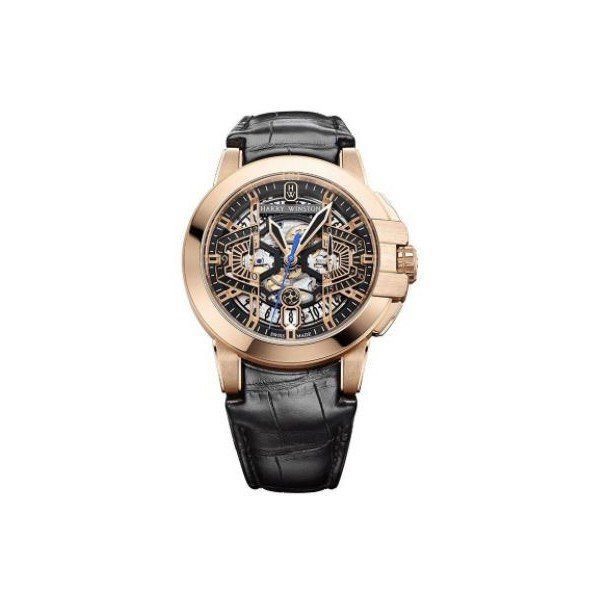 HARYY WINSTON OCEAN 18KT ROSE GOLD 44MM MEN'S WATCH