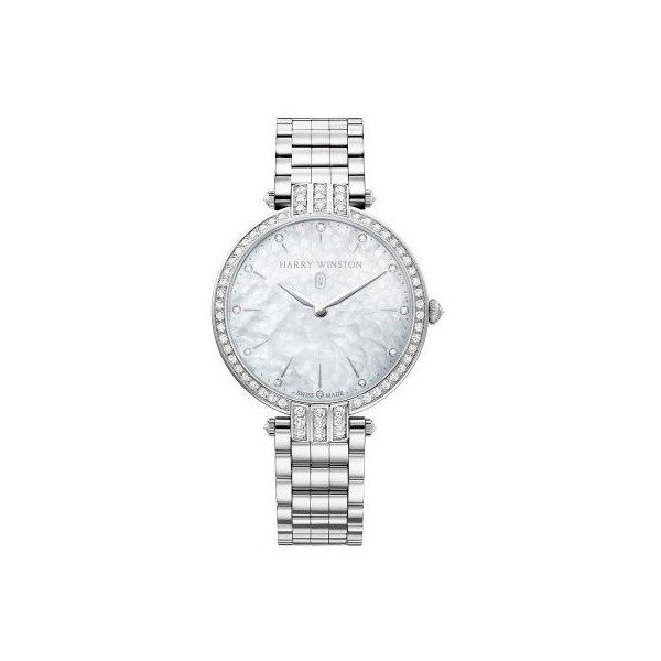 HARRY WINSTON PREMIER 18KT WHITE GOLD 36MM LADIES WATCH