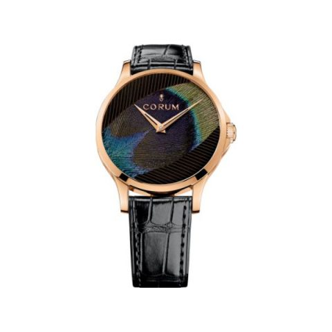CORUM HERITAGE ARTISANS FEATHER 18KT ROSE GOLD 39MM LADIES WATCH