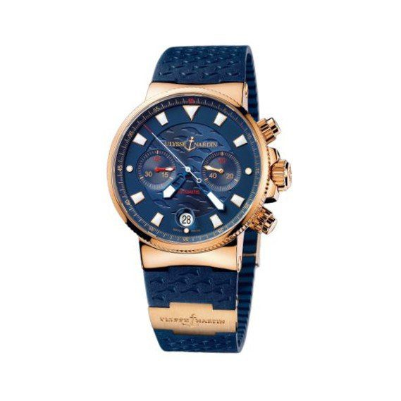 ULYSSE NARDIN BLUE SEAL 18KT ROSE GOLD 41MM MEN'S WATCH