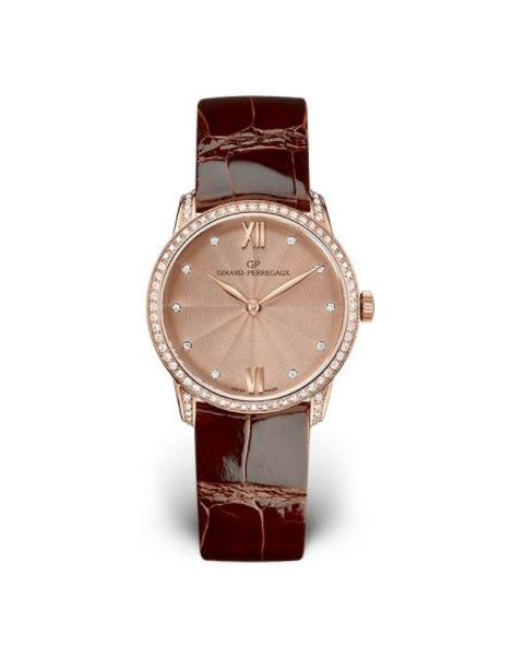GIRARD PERREGAUX 1966 18KT ROSE GOLD 30MM LADIES WATCH