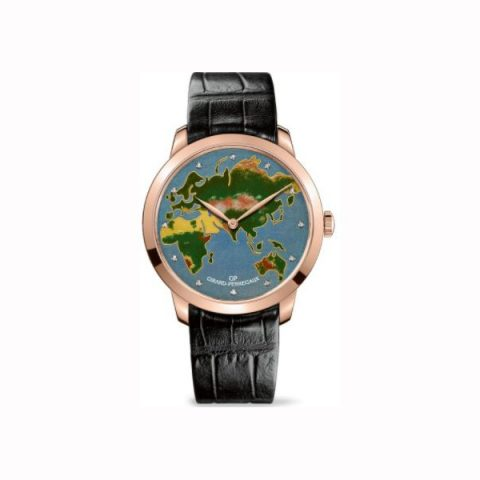 GIRARD PERREGAUX 1966 THE MAP LIMITED EDITION 18KT ROSE GOLD 40MM MEN'S WATCH