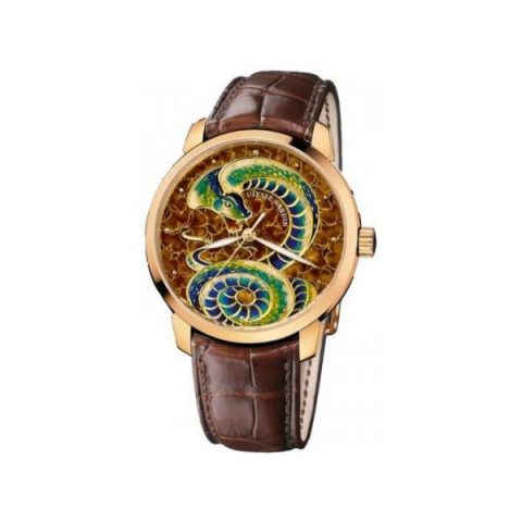 ULYSSE NARDIN CLASSICO CHAMPLEVE SNAKE LIMITED EDITION OF 88PCS 18KT ROSE GOLD 40MM MEN'S WATCH
