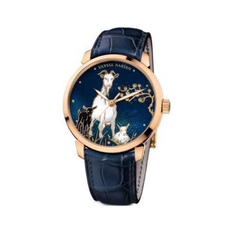 ULYSSE NARDIN CLASSICO GOAT LIMITED EDITION TO 88PCS 18KT ROSE GOLD 40MM MEN'S WATCH