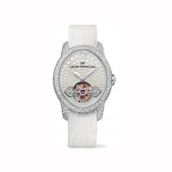 GIRARD PERREGAUX CAT'S EYE 18KT WHITE GOLD 38MM X 32.90MM LADIES WATCH