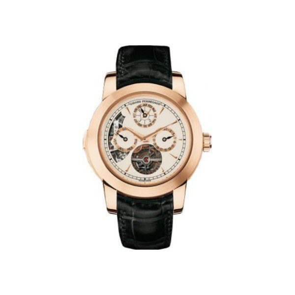 GIRARD PERREGAUX  HAUTE HORLOGERIE 18KT ROSE GOLD 42MM MEN'S WATCH