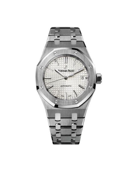AUDEMARS PIGUET ROYAL OAK STAINLESS STEEL 37MM SILVER DIAL UNISEX WATCH