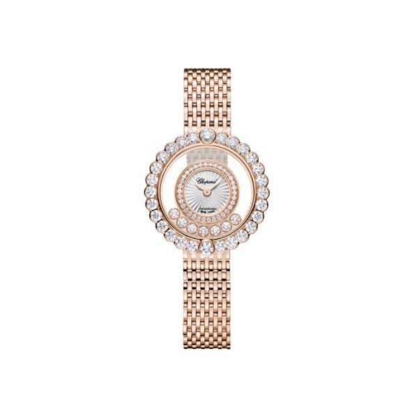 CHOPARD HAPPY DIAMONDS ICONS 18KT ROSE GOLD 30.3MM LADIES WATCH