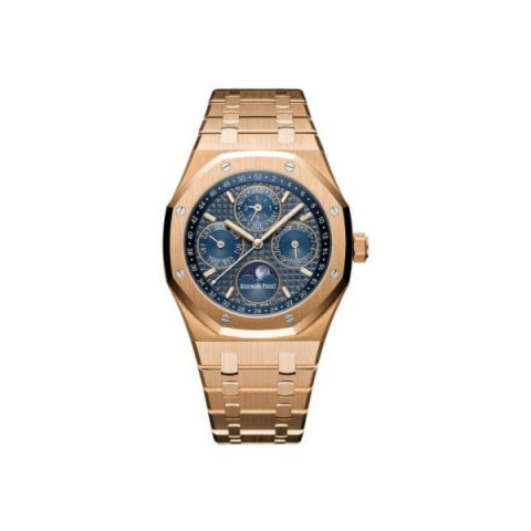 AUDEMARS PIGUET ROYAL OAK 18KT ROSE GOLD 41MM BLUE DIAL MEN'S WATCH