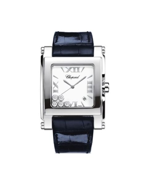 CHOPARD HAPPY SPORT SQUARE STAINLESS STEEL 32MM LADIES WATCH