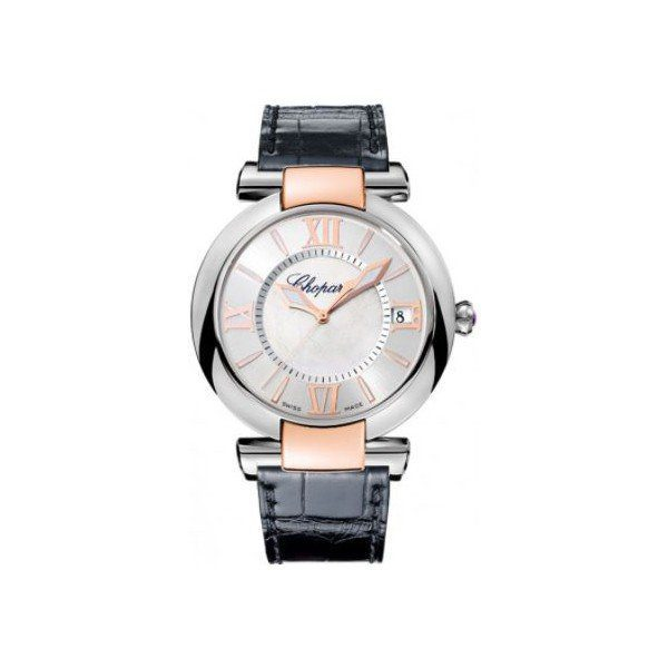 CHOPARD IMPERIALE STAINLESS STEEL & 18KT ROSE GOLD 40MM LADIES WATCH