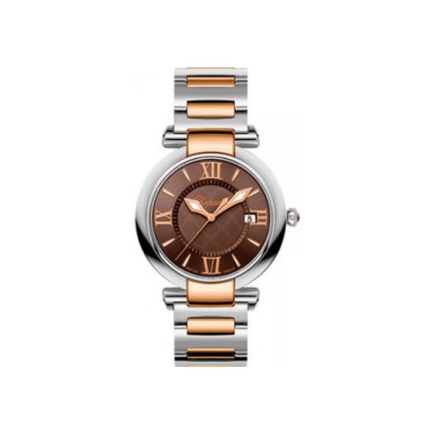 CHOPARD IMPERIALE 18KT ROSE GOLD & STAINLESS STEEL 36MM LADIES WATCH