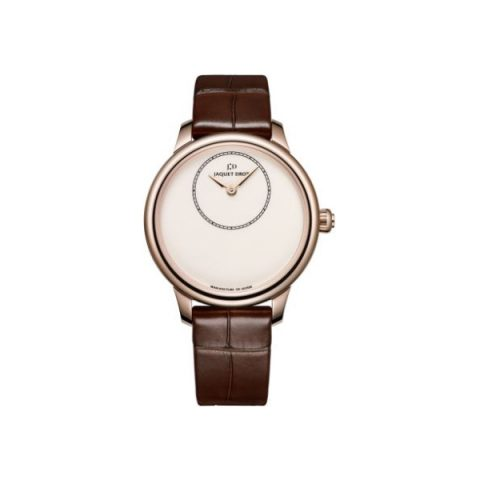 JAQUET DROZ PETITE HEURE 18KT ROSE GOLD 35MM LADIES WATCH