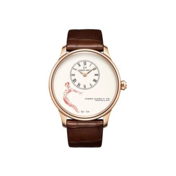JAQUET DROZ PETITE HEURE 18KT RED GOLD 43MM MEN'S WATCH