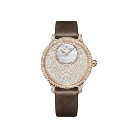 JAQUET DROZ PETITE HEURE 18KT RED GOLD 35MM LADIES WATCH