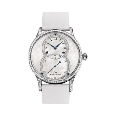JAQUET DROZ GRANDE SECONDE 18KT WHITE GOLD 39MM LADIES WATCH