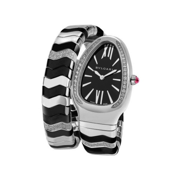 BVLGARI SERPENTI SPIGA STAINLESS STEEL 35MM LADIES WATCH