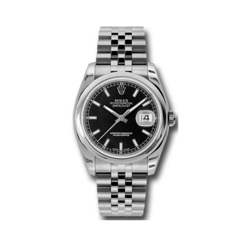 ROLEX OYSTER PERPETUAL DATEJUST STAINLESS STEEL 36MM MEN'S WATCH