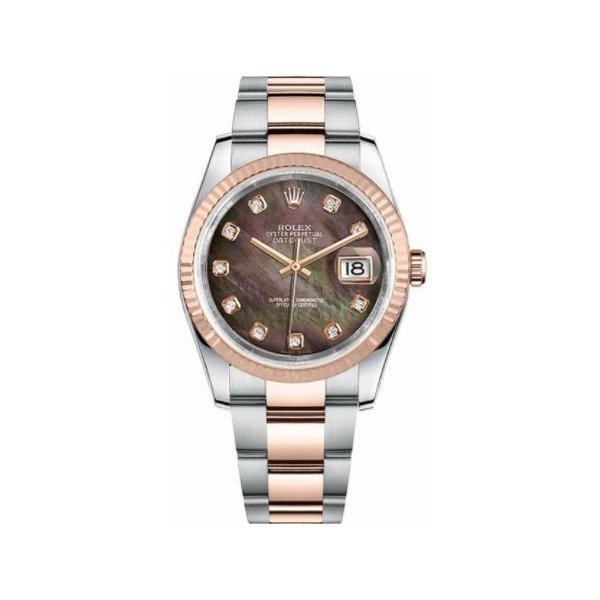 ROLEX DATEJUST 18KT ROSE GOLD 36MM MEN'S WATCH